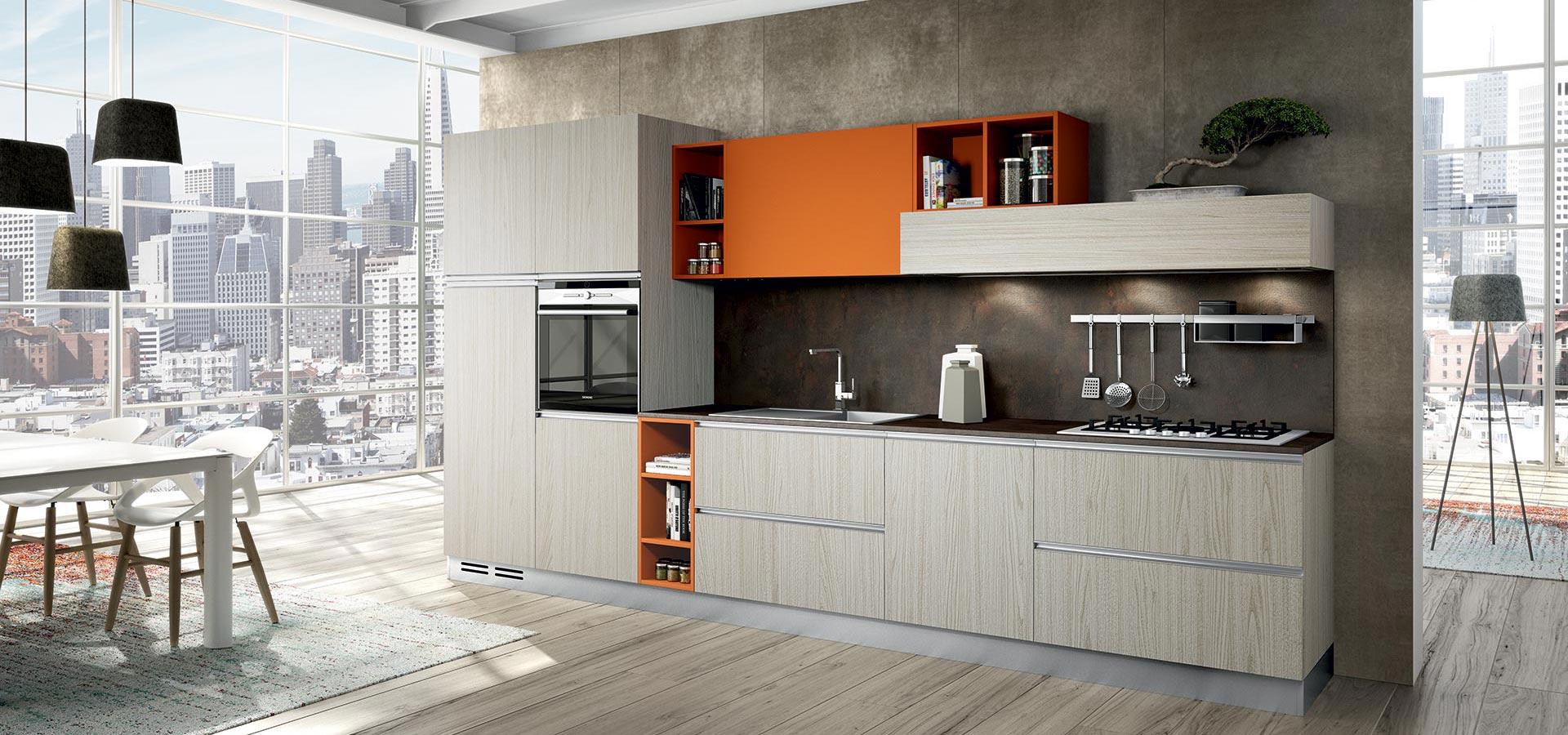 Ante cucina legno grezzo for Piano cucina in cemento