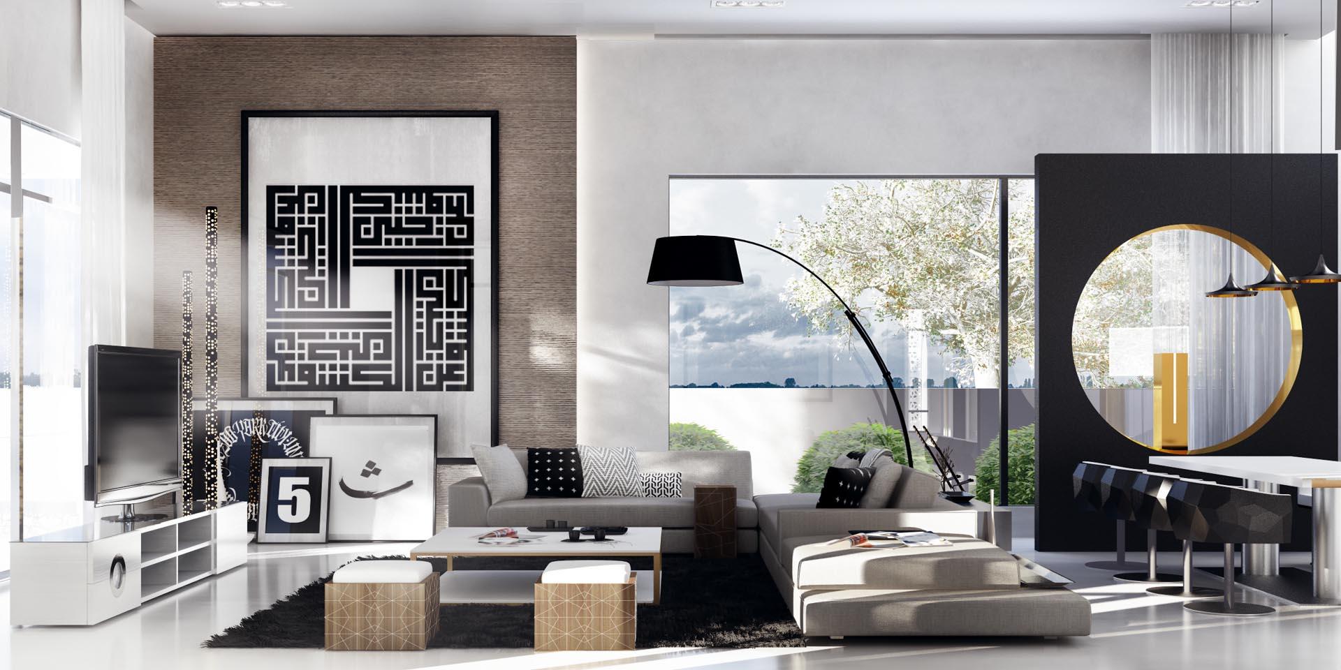 5 idee per un soggiorno di design casa di stile - Idee per arredare soggiorno con angolo cottura ...