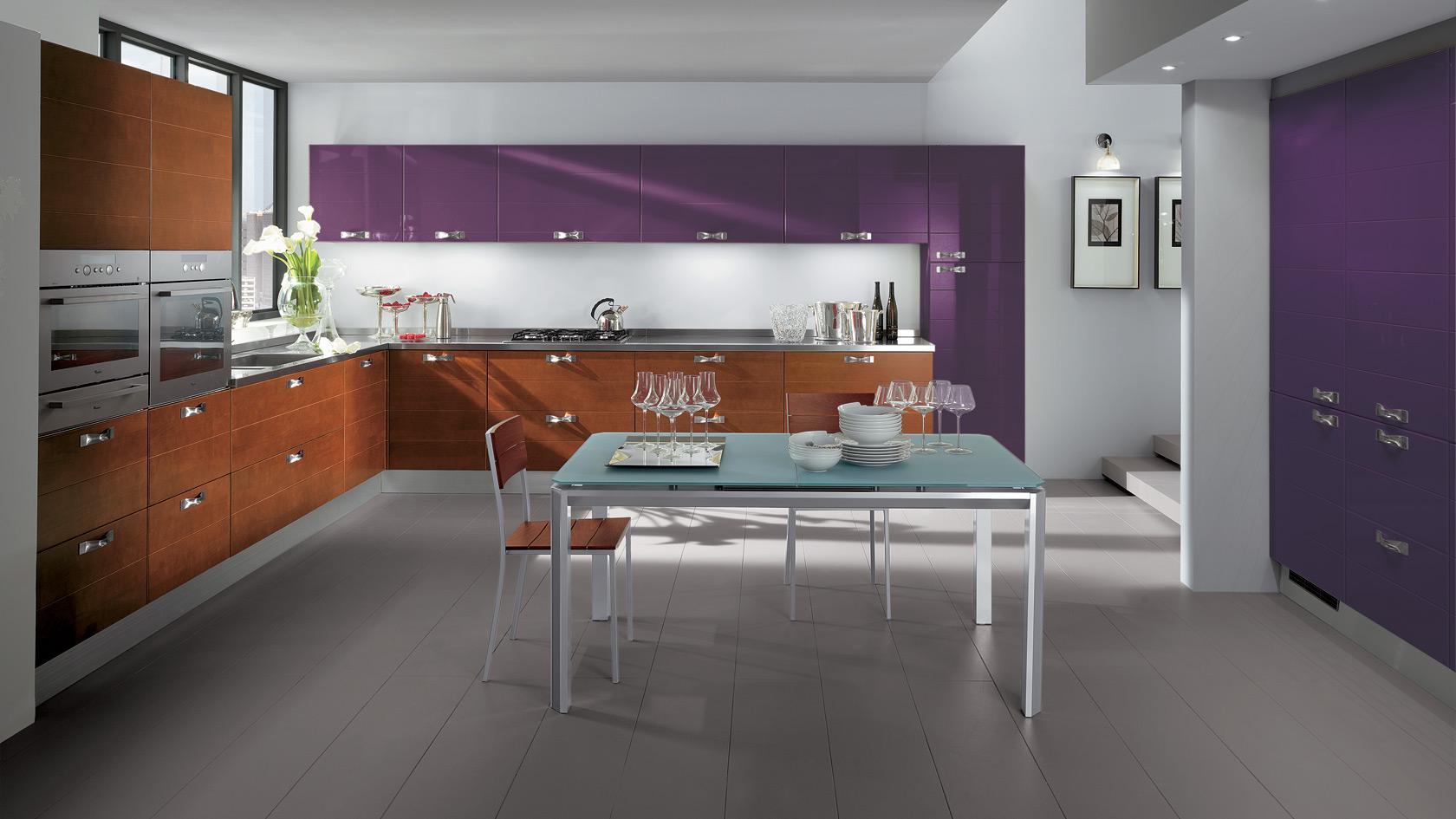 In cucina diamo spazio al colore casa di stile - Colore muri cucina ...