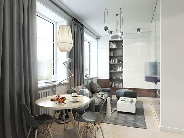 Come sfruttare al meglio lo spazio 4 mini appartamenti di design casa di stile - Organizzare le pulizie di casa quando si lavora ...