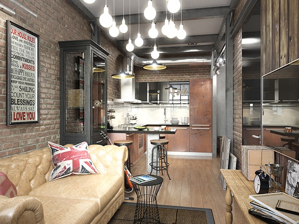 Come sfruttare al meglio lo spazio 4 mini appartamenti di for Appartamento design industriale