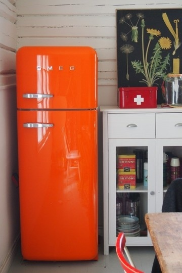 Frigo Smeg Arancione