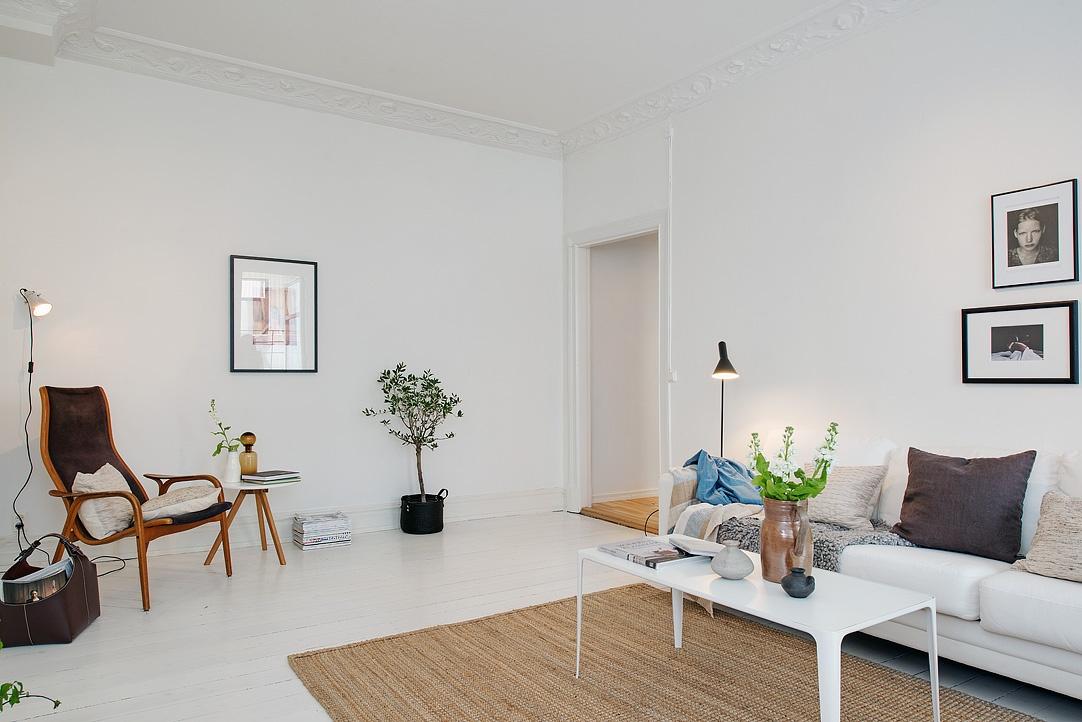 Un appartamento luminoso in perfetto stile scandinavo for Un appartamento