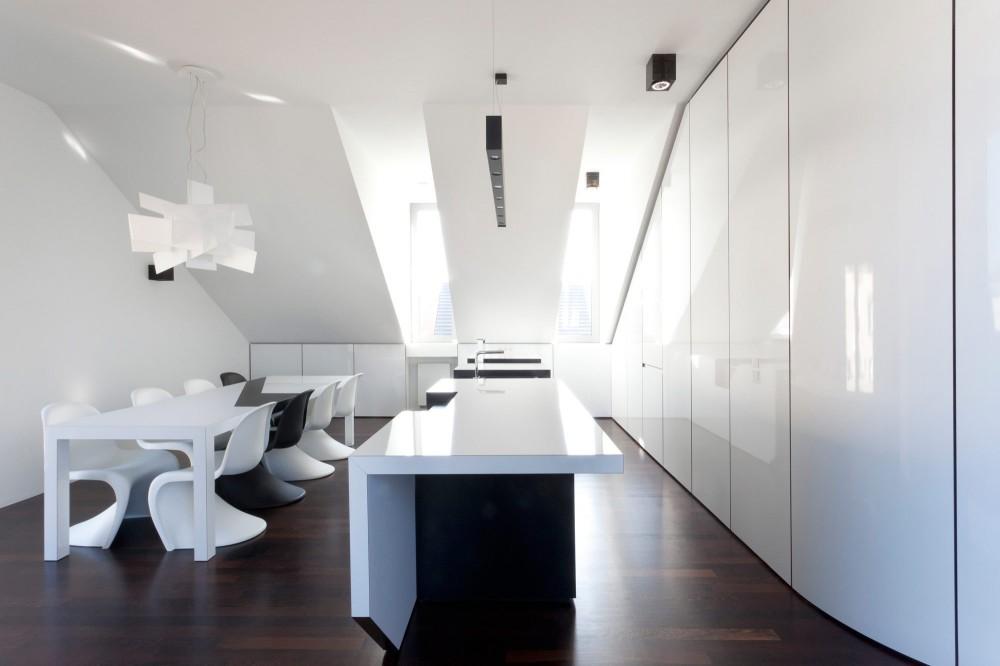 Appartamento total white moderno e minimalista casa di stile for Lab architects