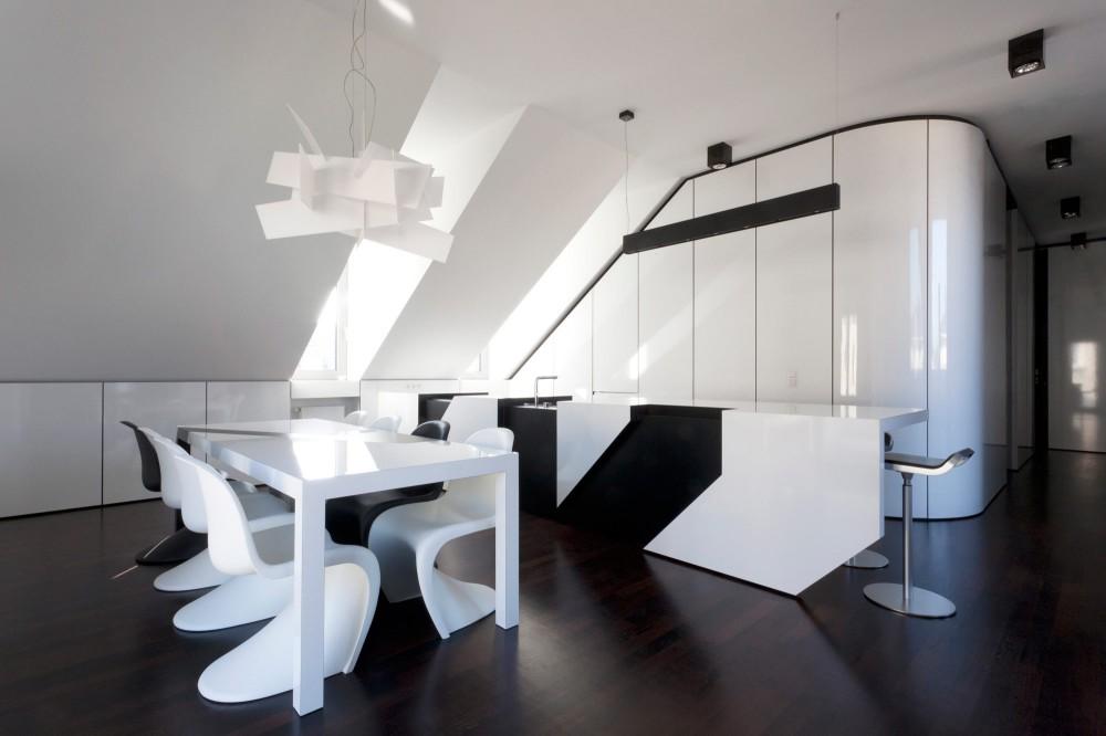 Appartamento total white moderno e minimalista casa di stile for Casa moderna total white