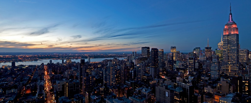 La spettacolare vista dal 57 piano