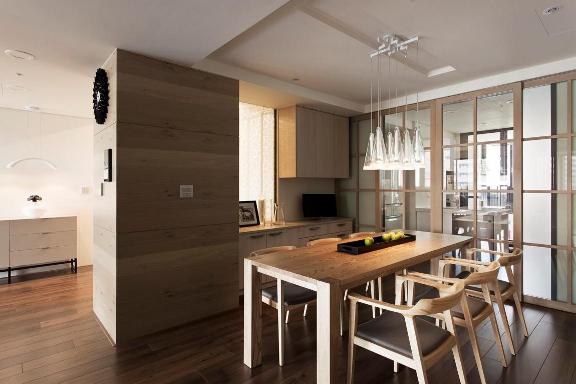 Un appartamento con un originale muro retrattile interno for Un appartamento