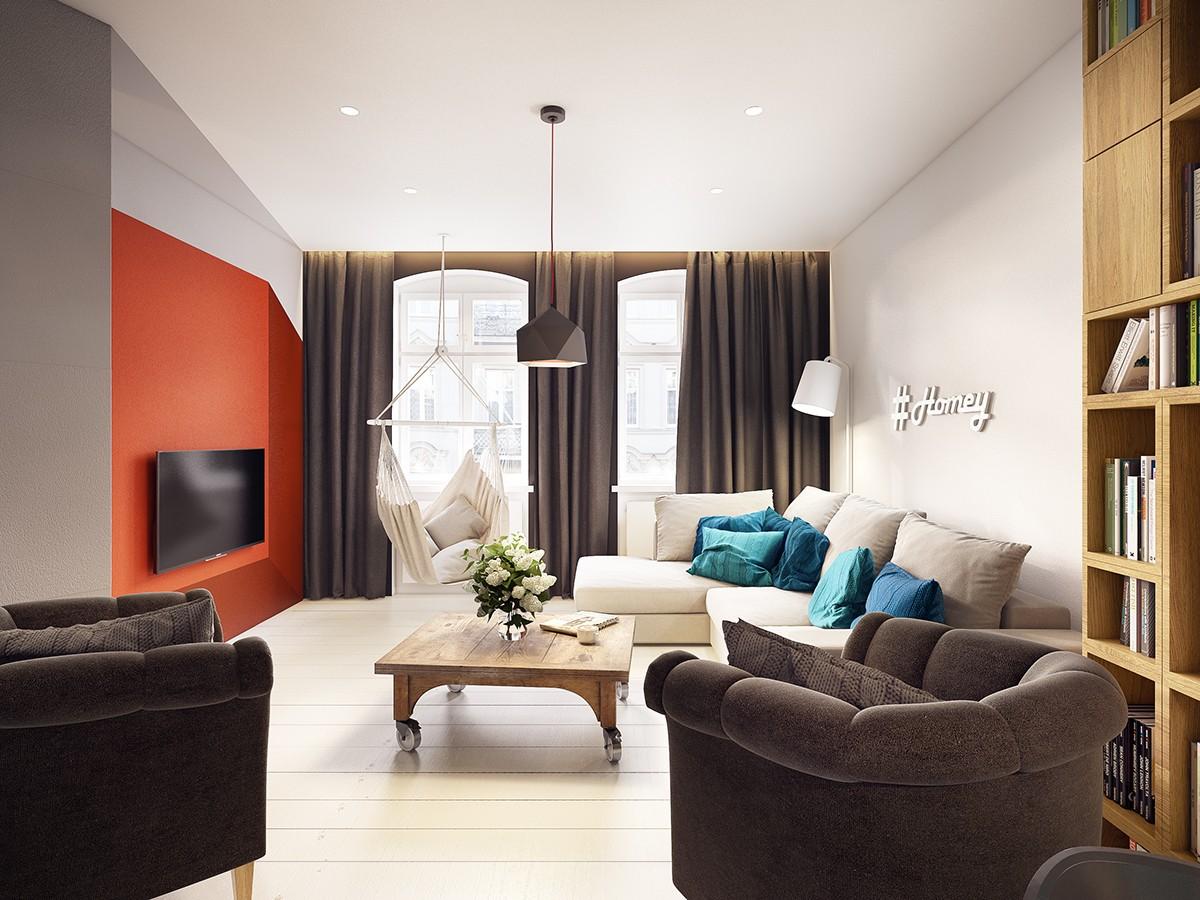 Illusioni ottiche e colori vivaci per un appartamento for Case di stile