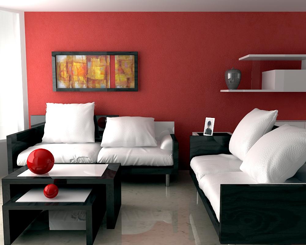 Pareti rosse per il soggiorno