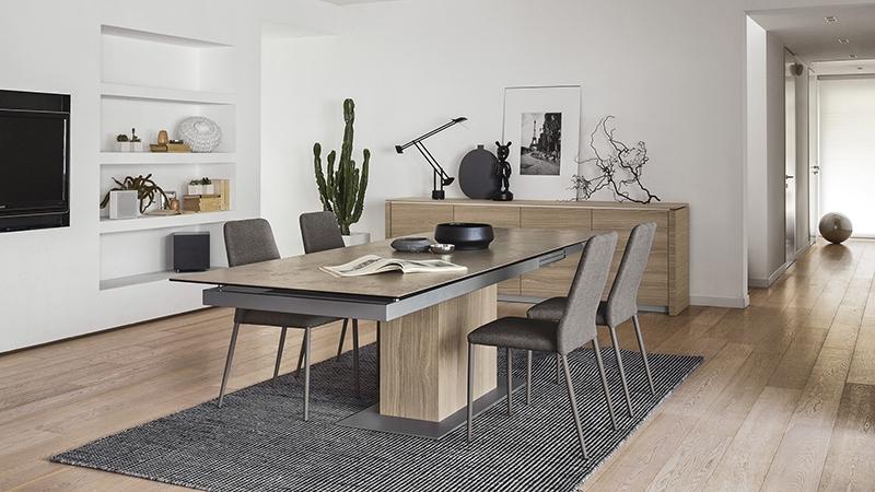 Disposizione del tavolo - Tavolo Modello Sincro Designer: Calligaris