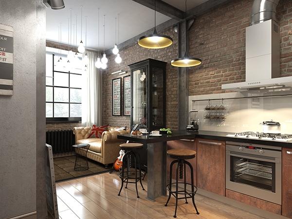 Mini appartamento 2 35mq casa di stile for Piccoli piani di case basse