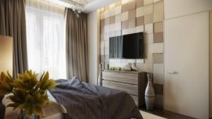 camera da letto moderna  colori caldi