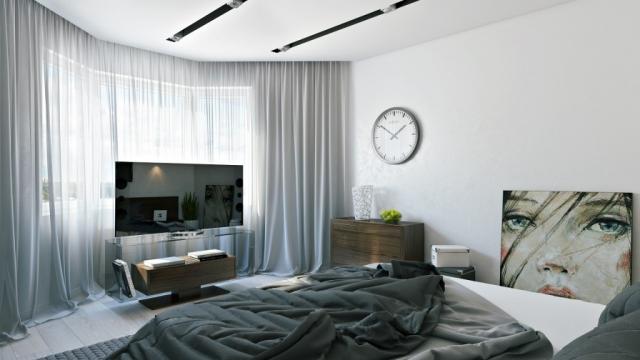 Veltrov camera da letto moderna con colori freddi casa for Colori camera da letto moderna