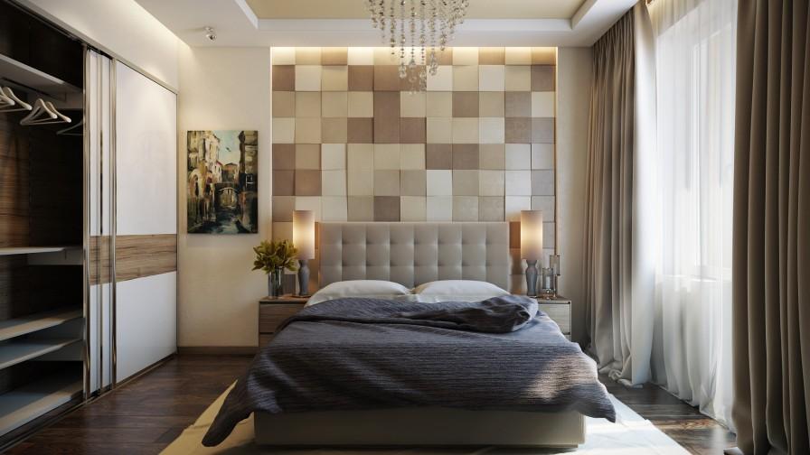 Veltrov - camera da letto moderna colori caldi - Casa di stile