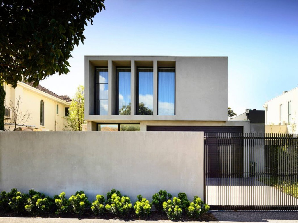 Una casa elegante e minimalista casa di stile for 1800 piani di casa sf