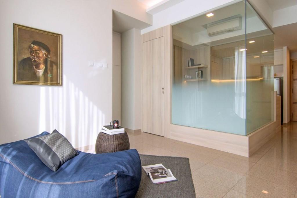 40 metri quadrati per un monolocale di design casa di stile for Arredare appartamento 50 mq