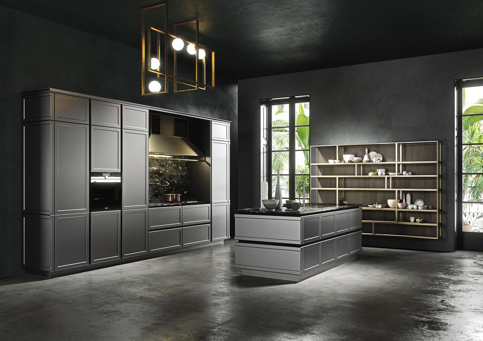 frame la cucina industrial di snaidero premiata al good design award casa di stile. Black Bedroom Furniture Sets. Home Design Ideas