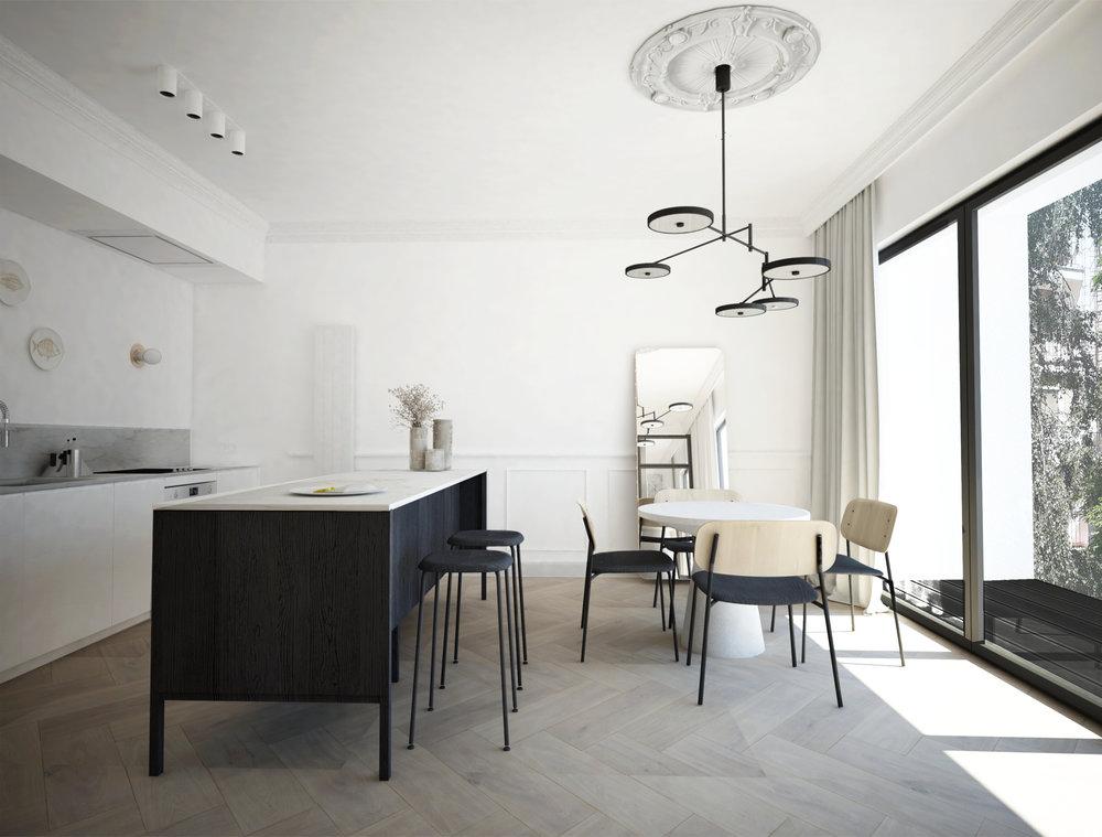 Appartamento neoclassici di Home and Wood