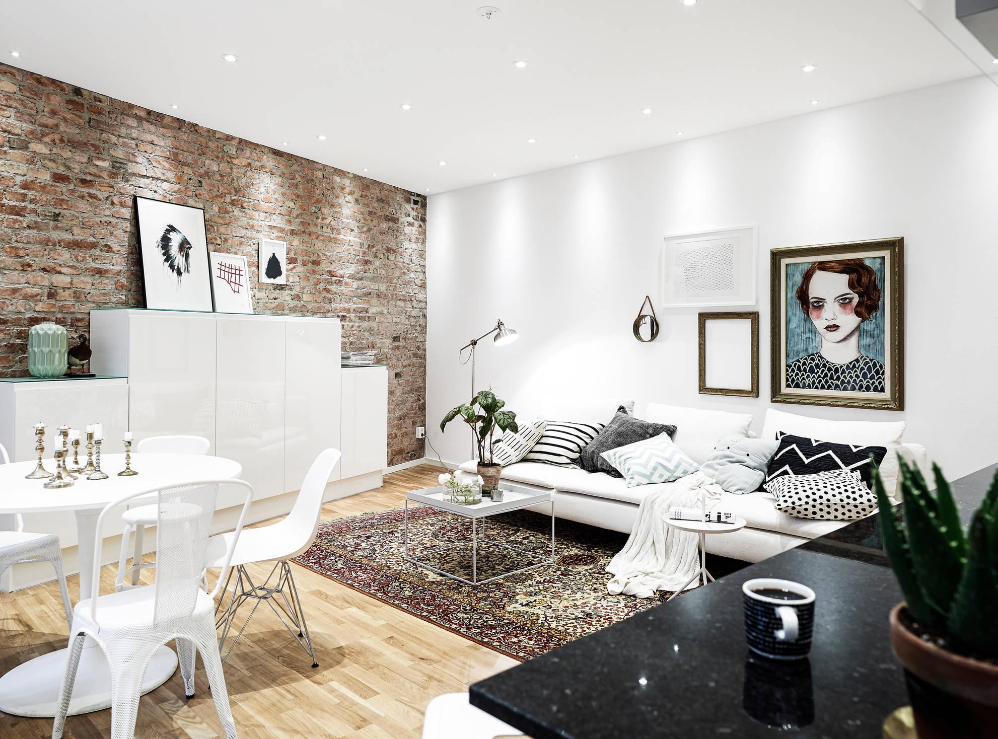 Appartamento di 57 mq dal design scandinavo for Layout di casa gratuito